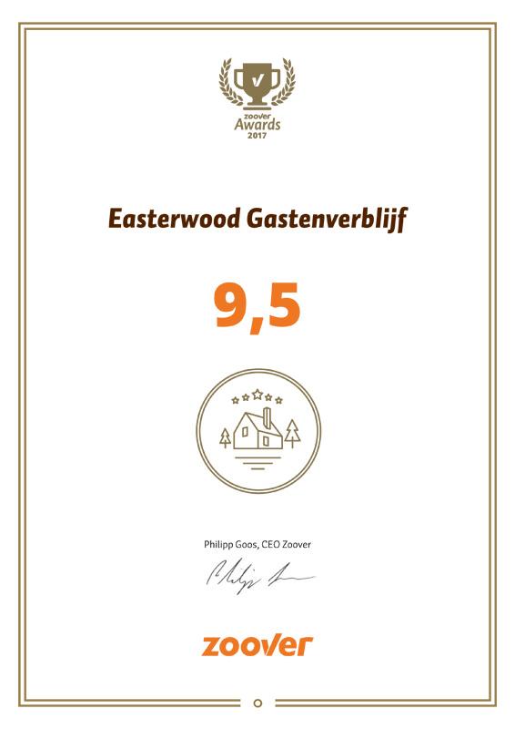 Easterwood is winnaar in de categorie Recommended by Zoover